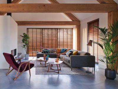 Huis en Zon Raamdecoratie en Zonwering – Luxaflex Houten jaloezie 1